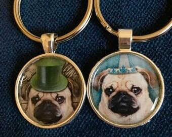 Pug Keychain Pug GIft