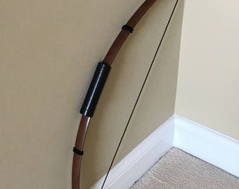 Collapsible Costume Bow, Loosely Strung Collapsible Archer's Wood Finish Bow for Costume or Prop; Renaissance, Lord of Rings