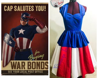 Marvel Captain America Disneybound Dress