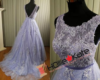 Purple wedding dress strapless with lavender lilac lace lavender wedding dress sheer wedding dress beaded lace sheer bodice junglespirit Image collections