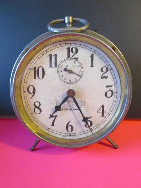 Old Large Partial  Alarm Clock for Repair, Parts, Steampunk Art and etc...