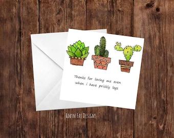 Prickly Cactus Legs Card
