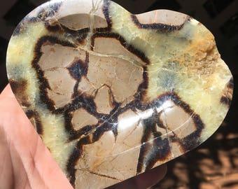 Septarian - Dragon Stone Heart Dish