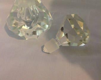 Beautiful Clear Art Glass Perfume bottle