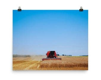 Photo paper poster - Red Silo Original Art - Harvest King