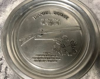 Vintage Collectors Plate - Daniel Boone - Pennsylvania Rifle