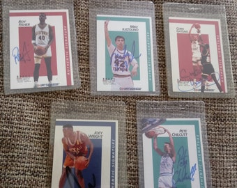 Basketball Autographed Cards Sports Vintage Collection