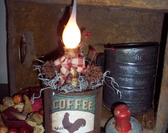 Primitive Rusty Tin Can-dle Rooster Series