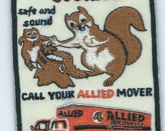 Allied Van Lines dependable storage truck driver patch 4-3/4 X 3-1/4