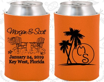 Neon Orange Wedding, Neon Orange Can Coolers, Neon Orange Wedding Favors, Neon Orange Wedding Gift, Neon Orange Party Favors (23)