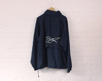 1990s Reebok Windbreaker Jacket · Vintage Tracksuit · XL Reebok Rain Jacket · Vintage Reebok · Retro Windbreaker · Vintage Reebok Top · XL