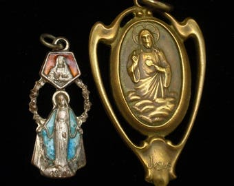 Lot of Two Vintage Catholic Medals