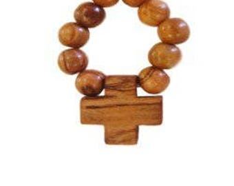 Olive Wood Finger Rosary ( Set of Three )
