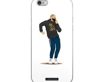 Hotline Bling Drake iPhone 5/5s/Se, 6/6s, 6/6s Plus Case, Dance Tutorial Illustration, Fun Pop Art, Dance Music Funny Drawing, Fan Art (2)