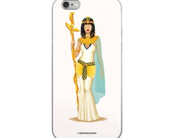 Cleopatra iPhone 5/5s/Se, 6/6s, 6/6s Plus Case, Future is Female, Queen Gift for Her, Who Run the World, Girlboss Pop Art, Women, Feminism