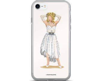 Madonna Like a Virgin iPhone 7/7 Plus Case, Future is Female, Gift for Her, Who Run the World, Girlboss Fun Pop Art, Women Feminism