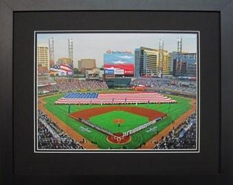 Atlanta Braves SunTrust Park Baseball Stadium, Framed Print