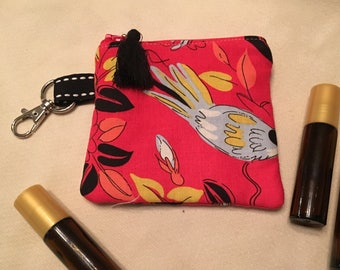 Essential Oil Bag with Keyring (holds 3 bottles)