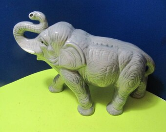 Vintage Ceramic Lucky Elephant Home Decor Zen Thai Asian Gift Home Decor Hand painted