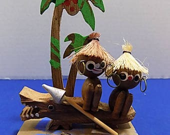 Rare Wood Florida Miami Beach Souvenir Island Tropical
