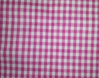 Pink Gingham Fabric