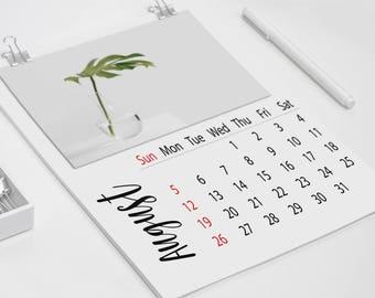 2018 blank calendar, Minimal Calendar, Blank wall calendar, modern wall calendar, blank calendar pdf, editable calendar,PDF calendar
