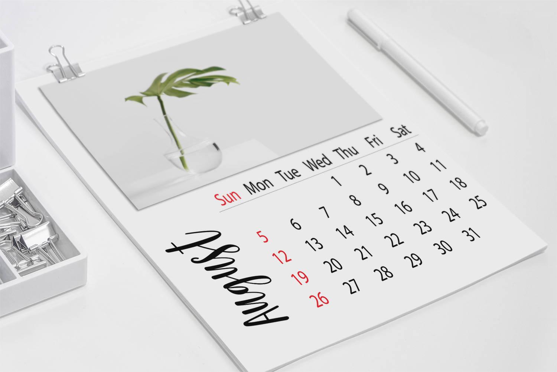 Diy Calendar Australia : Blank calendar minimal wall