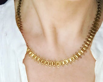 Reserved:  Victorian Gold Collar Necklace