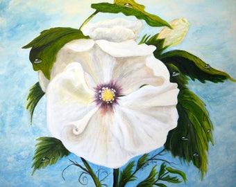 Acrylic Hibiscus Painting