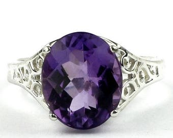 On Sale, 20% Off, Amethyst, 925 Sterling Silver Ring, SR057