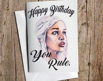 Khalessi Birthday Card