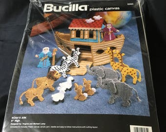 New Bucilla Noah's Ark Plastic Canvas Kit New and Sealed #6085