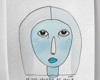 I am available and joli.e - original watercolor painting