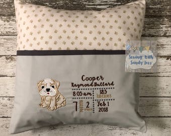 Personalized Baby Pillow Baby Annopuncement Pillow Birth Announcement CustomPillow Birth Info Pillow Custom Gift New Baby Gift Baby Shower