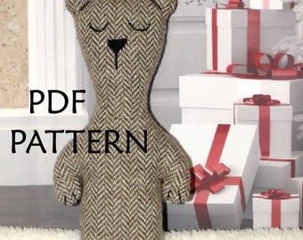 PDF Pattern. Bear Toy Pattern. Sewing Pattern ONLY. Soft toy Pattern. Cloth toy Pattern. Plush toy Pattern. Instant Download. Digital files.