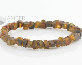 Amber Bracelet, Raw Baltic amber