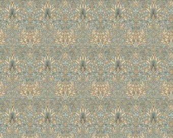 Pre-order: Snakehead in Aqua by Morris and Co from the Merton collection for Free Spirit #PWWM010-Aquax by 1/2 yard