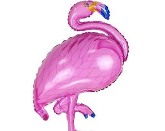 ALOHA flamingo Balloon foil JUMBO tropical island Luau Hawaiian party  bridal baby shower flamingle wedding palm tree