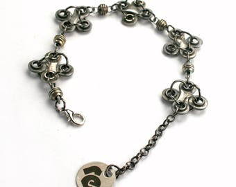 Bike chain jewelry. Bracelet OXFORD made of upcycled bicycle chain links. Gift for cyclists