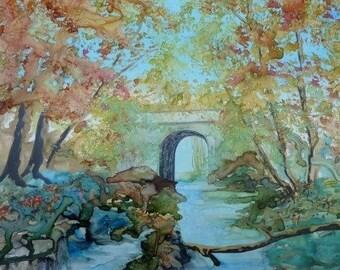 Watercolor - the bridge