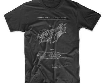 Batman and Robin Batmobile Patent T shirt, Batman Car, Movie shirt, Batman shirt, PP0016