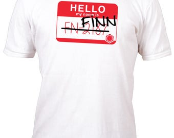 Limited Edition White Fan Art Finn FN-2187 Name Badge Shirt All sizes up to Plus 5x
