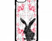 Bunny rabbit animal floral flower pretty girly vintage fashion pattern cover for Samsung Galaxy S5 S6 s7 s8 plus edge note 4 5 phone case