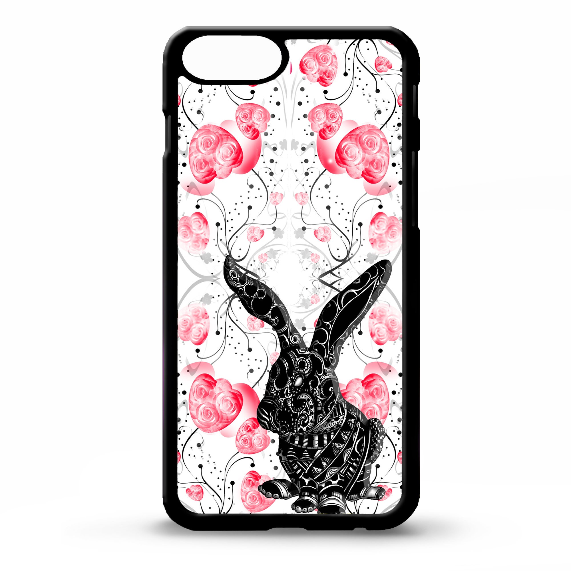 Electronics Cases Custom Hardcase Midnight Dots Iphone 4 5 5c 6 Plus 7 Case Bunny Rabbit Animal Floral Flower Pretty Girly Vintage Fashion Pattern Cover For Samsung Galaxy S5 S6