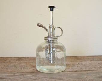 Vintage glass mister, water mister, plant mister, water adomizer, functional glass mister
