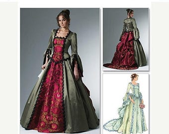 McCalls 6097 Costume pattern, Womens Victorian Bustle Gown, Steampunk Dress, Formal Gown Detachable Train Wedding Gown, Cosplay, Reenactment