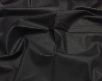 Ebony Black 004 Painters Palette Superior Schreiner Finish Solids by Ebor Fabrics Plain Patchwork Quilting Fabric