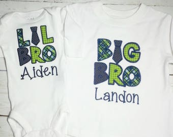 Big Brother shirt  , Little Brother shirt , big brother embroidered, Sibling shirt ,Gender reveal promoted to big brother ,Little brother