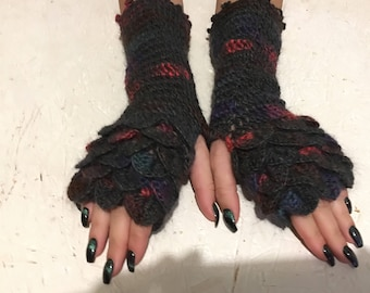new 2018 dragon gloves Arm Warmers Fingerless Gloves wristwarmer gloves, fingerless mittens,autumn gloves, winter gloves, hand crochet