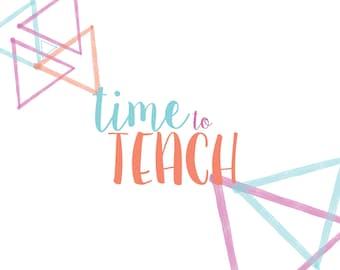 Time to Teach Elementary teacher school year planner